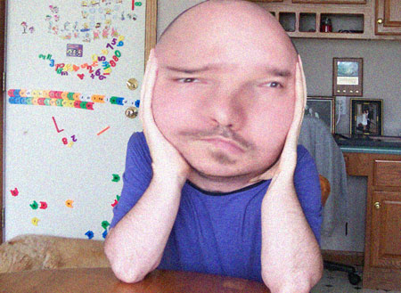 a0309a231fb melonhead.jpg. This is a fairly accurate pictorial representation of how I  feel today
